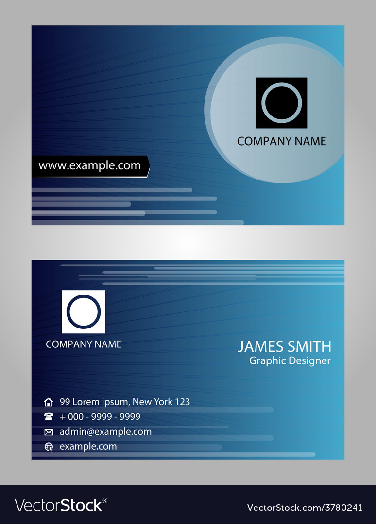 Name Card   Card Visit Vector Image  Name Card Example