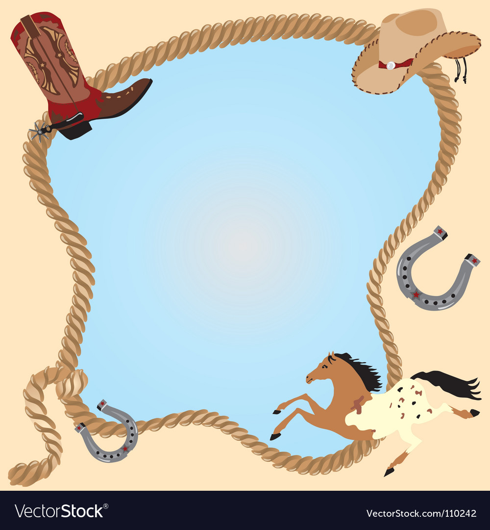 Cowboy invitation poster vector image
