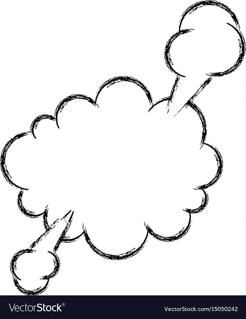 Hand draw comic speech bubble vector image