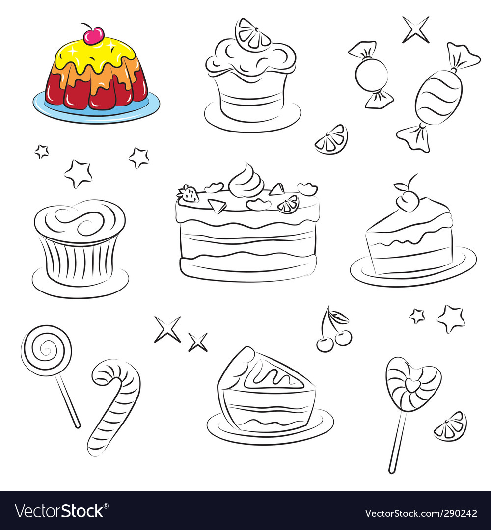 Holiday sweets 2 is v vector image