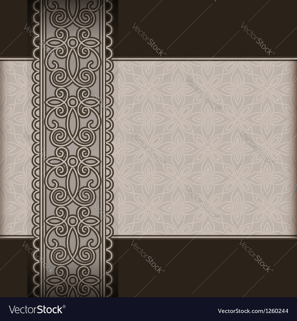 Old paper and lace ribbon vector image