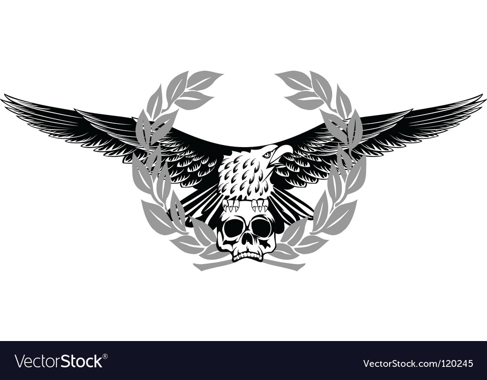 Eagle and skull vector image