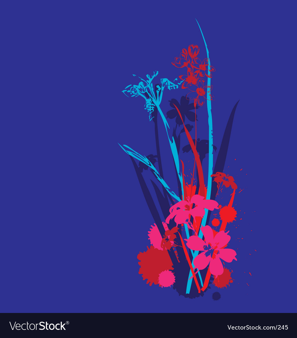 Funky flowers design vector image