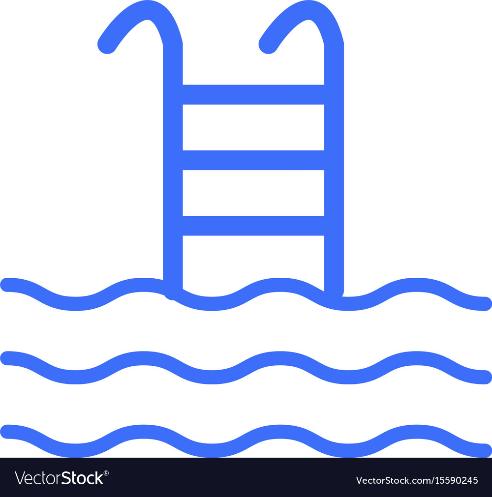 Swimming pool sign vector image