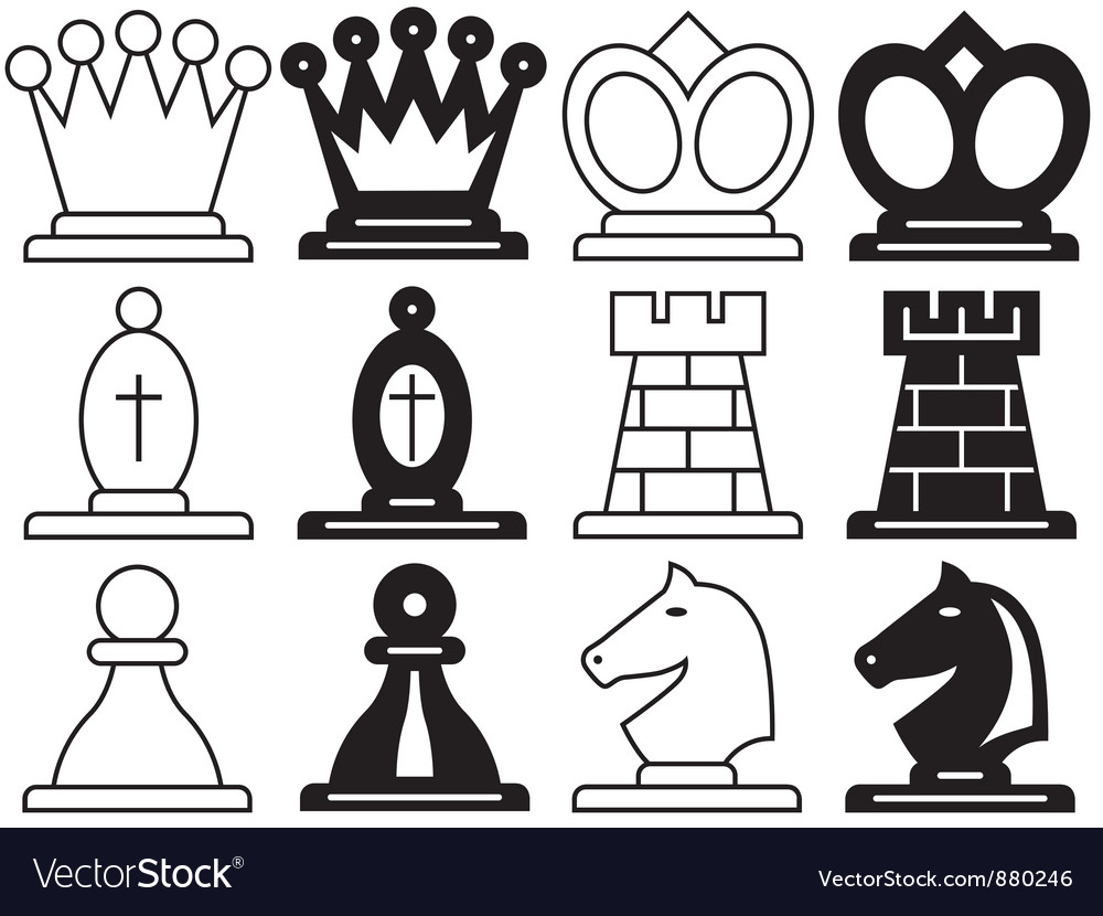 Chess symbols royalty free vector image vectorstock chess symbols vector image biocorpaavc Gallery