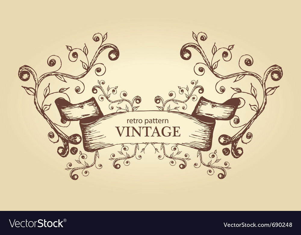 Abstract antique frame vector image