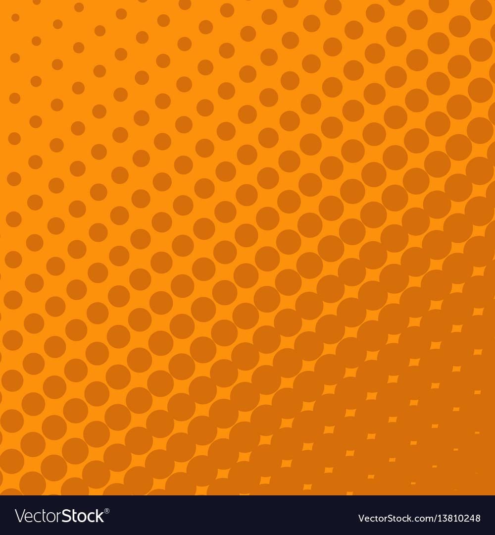Halftone dots on orange background vector image