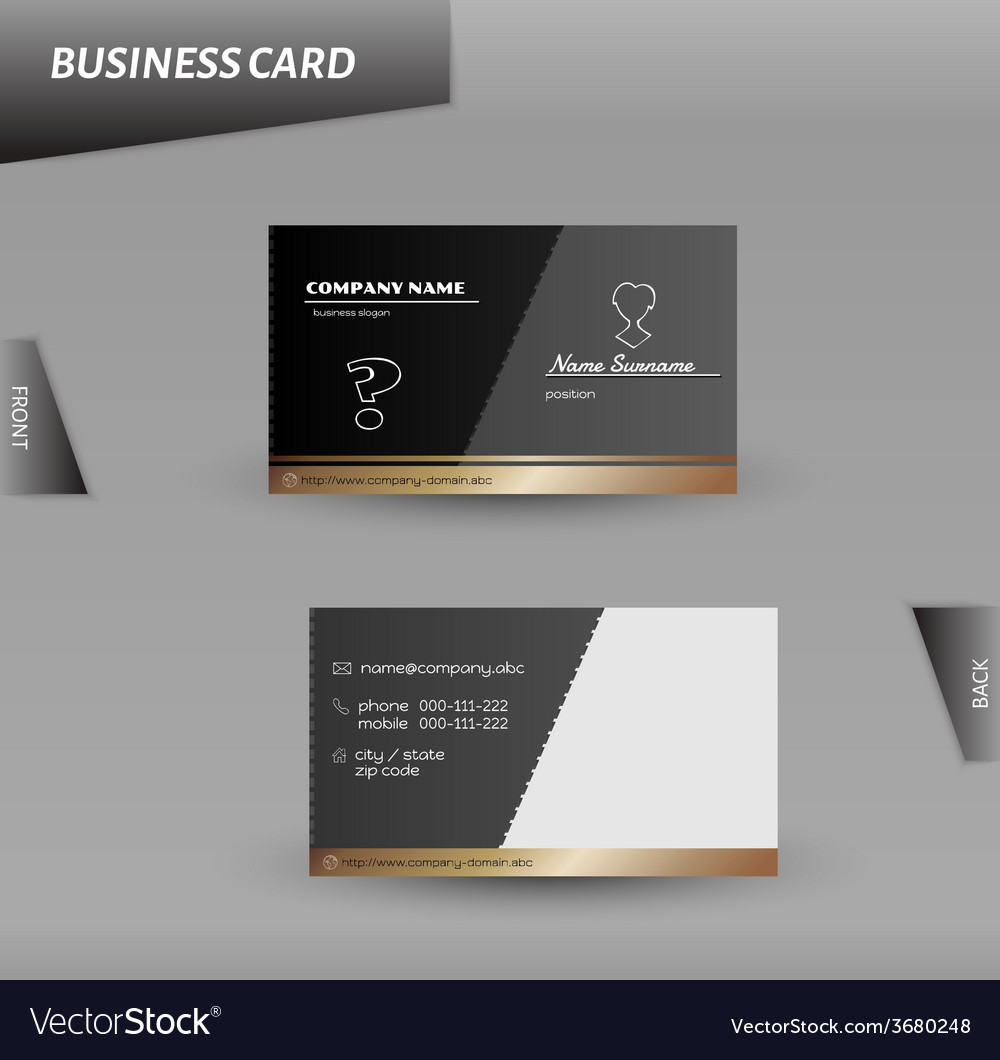 Modern design business card template Royalty Free Vector