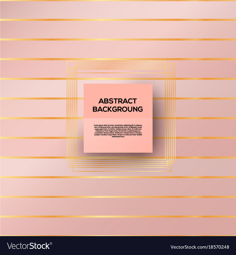 Rose gold background vector image