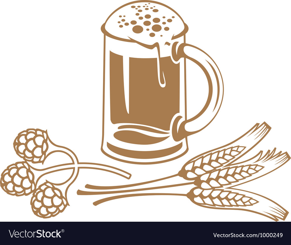Wheat beer vector image