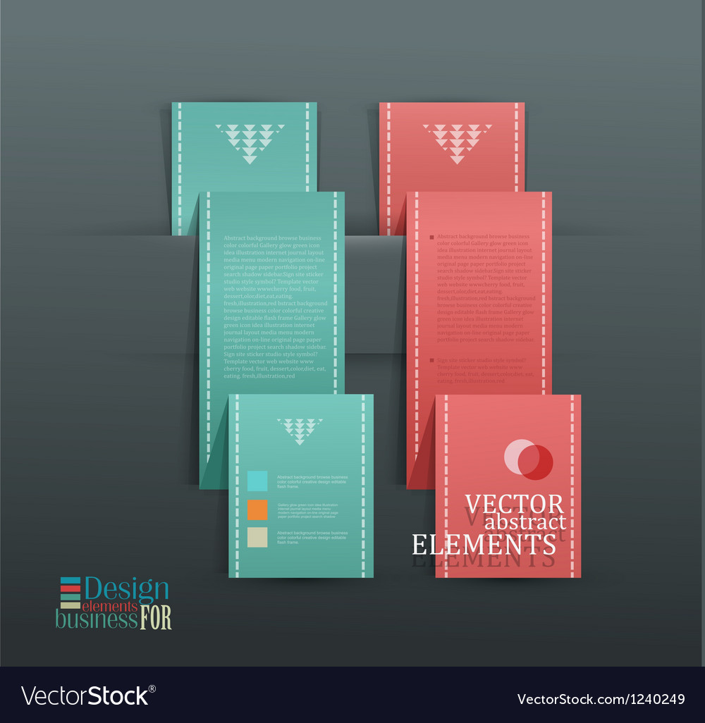 Items for Web Business Design vector image