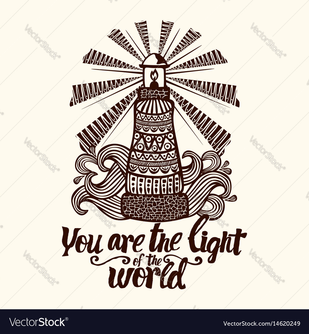 Christian lettering and doodle art vector image
