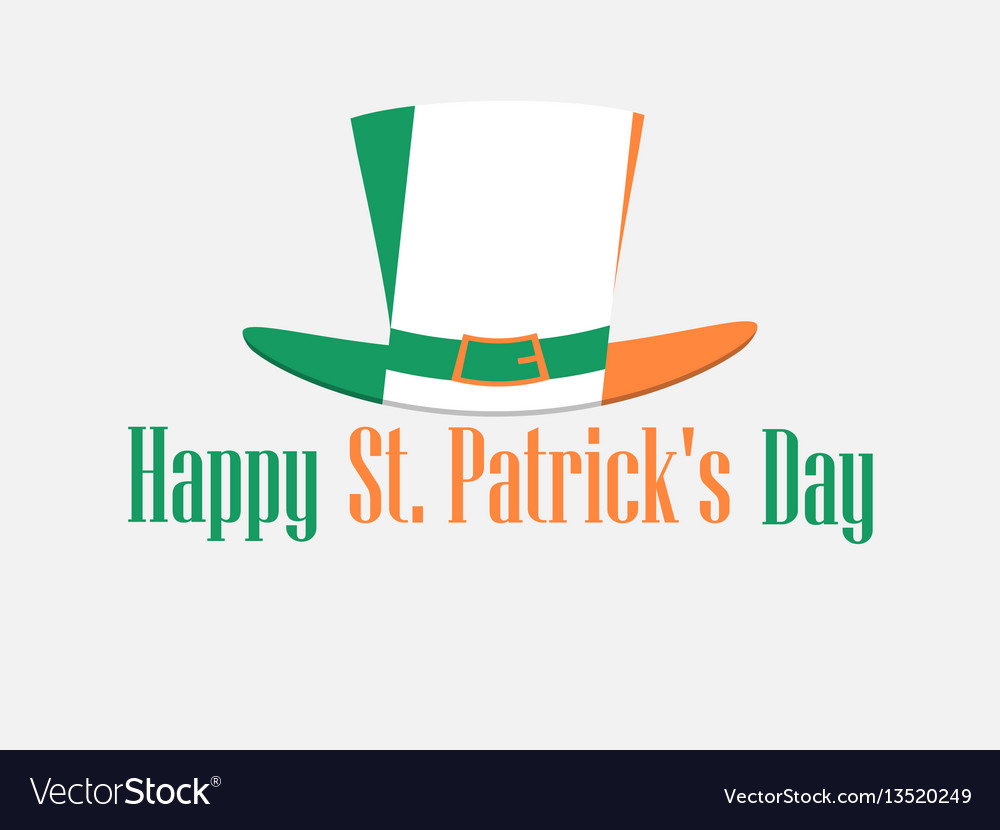 Happy st patricks day festive background with vector image