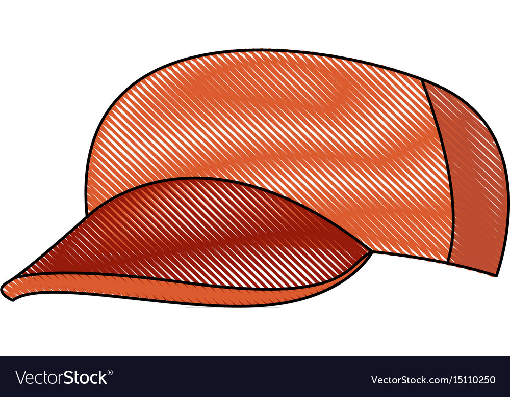Baseball cap casual clothes fashion sport vector image