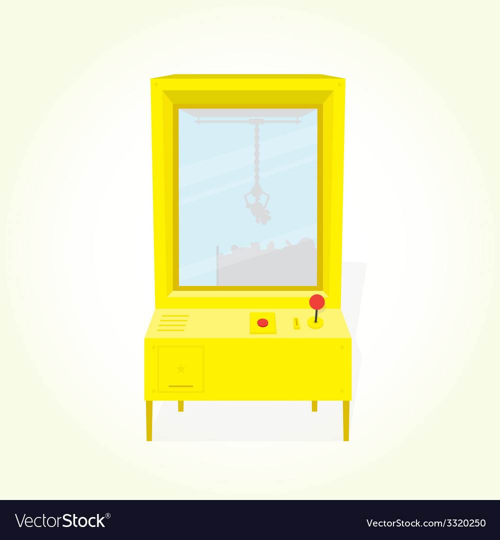Claw machine isolated vector image