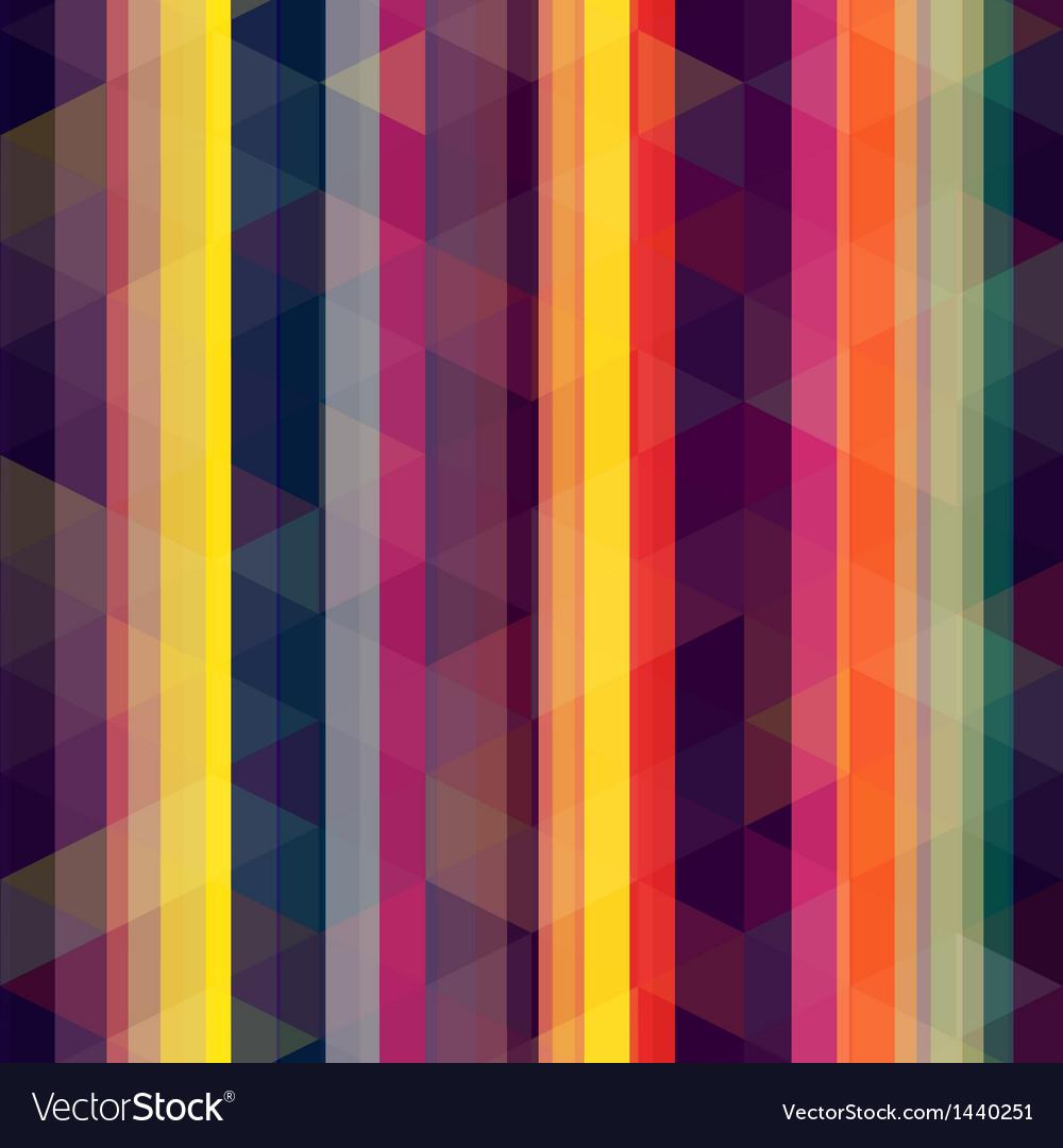 Seamless retro stripe background vector image