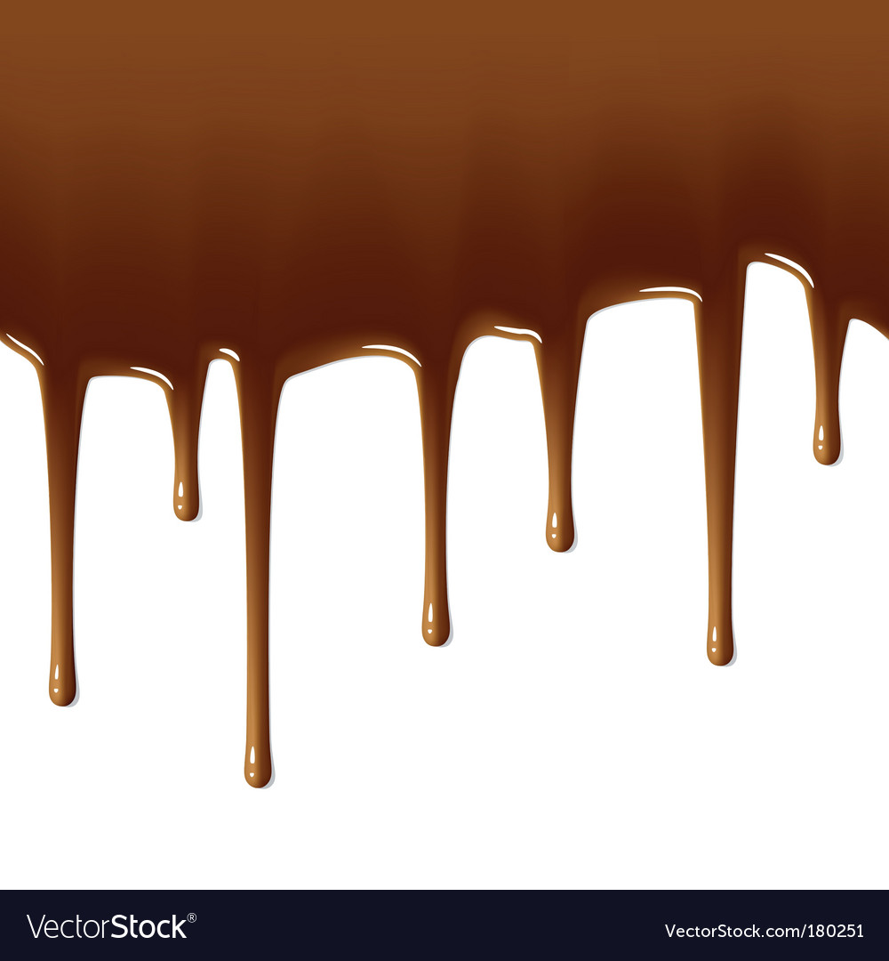 Milk chocolate drips vector image