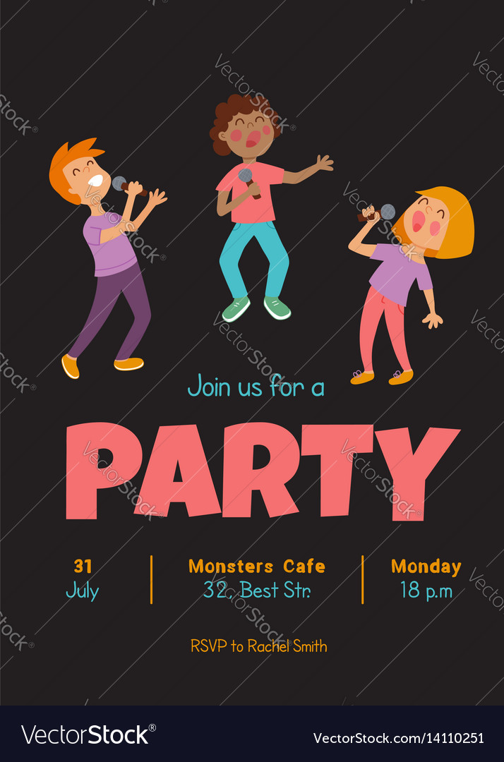 Singing party vector image
