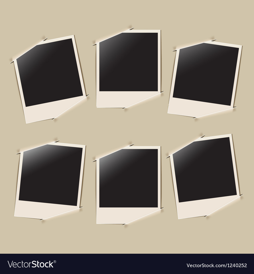 Photo album page vector image