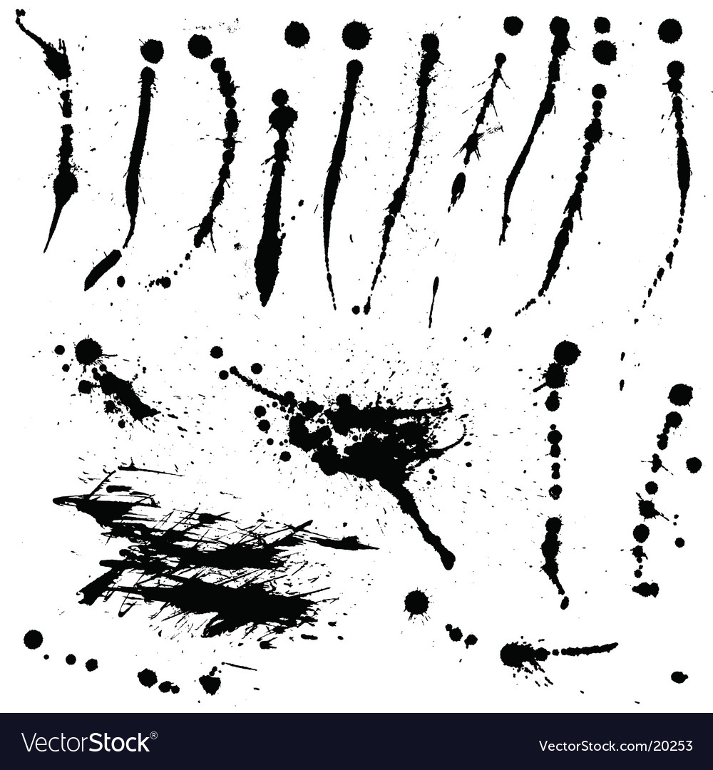 Ink splatters vector image