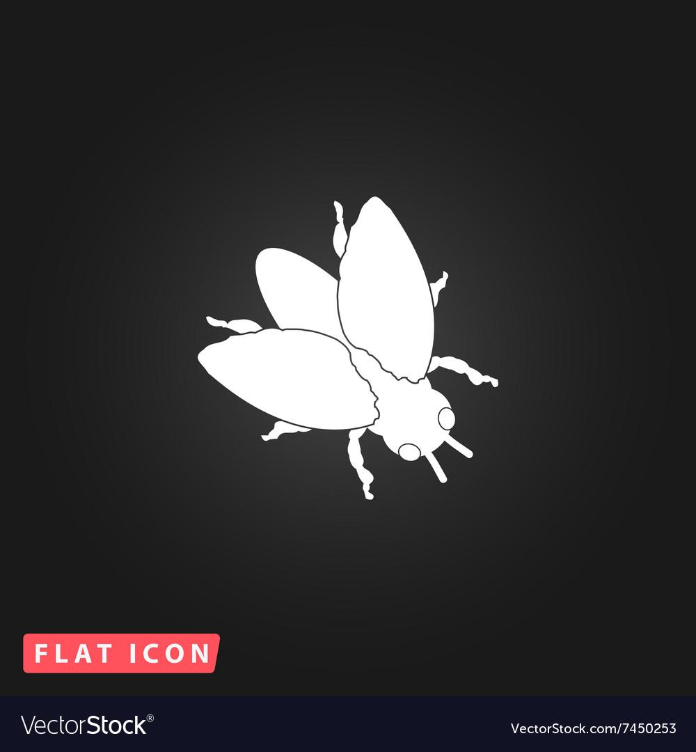 Stencil flies icon vector image