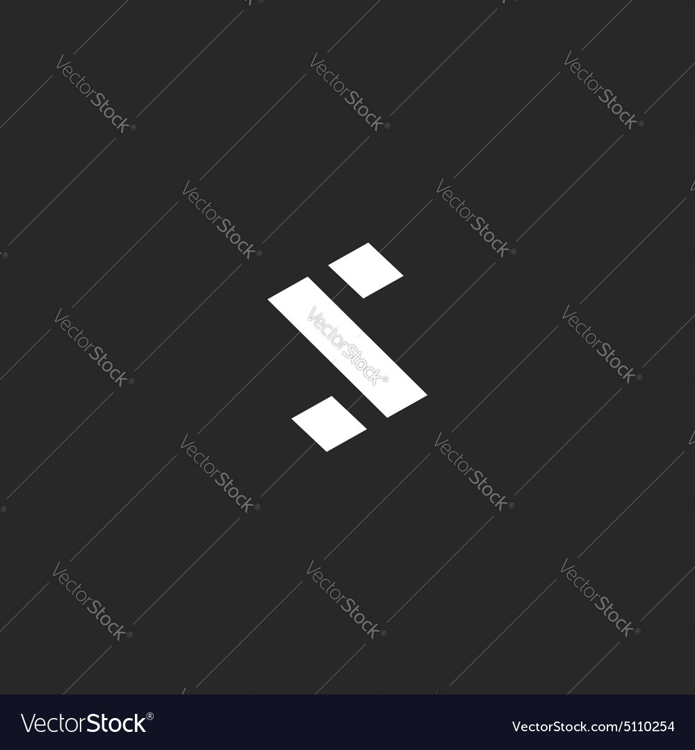 Letter S logo abstract percent tech sign mockup vector image