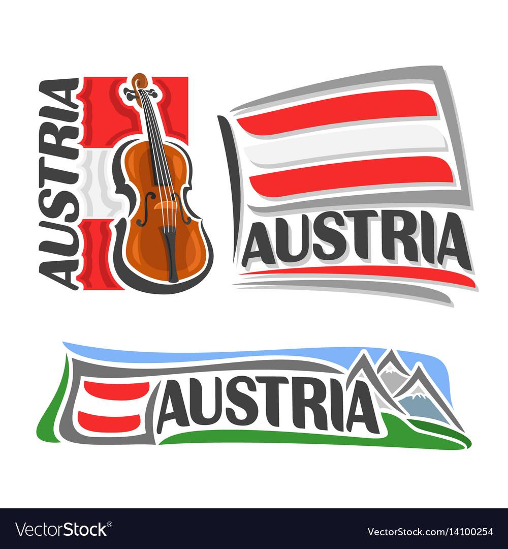 Logo for austria vector image