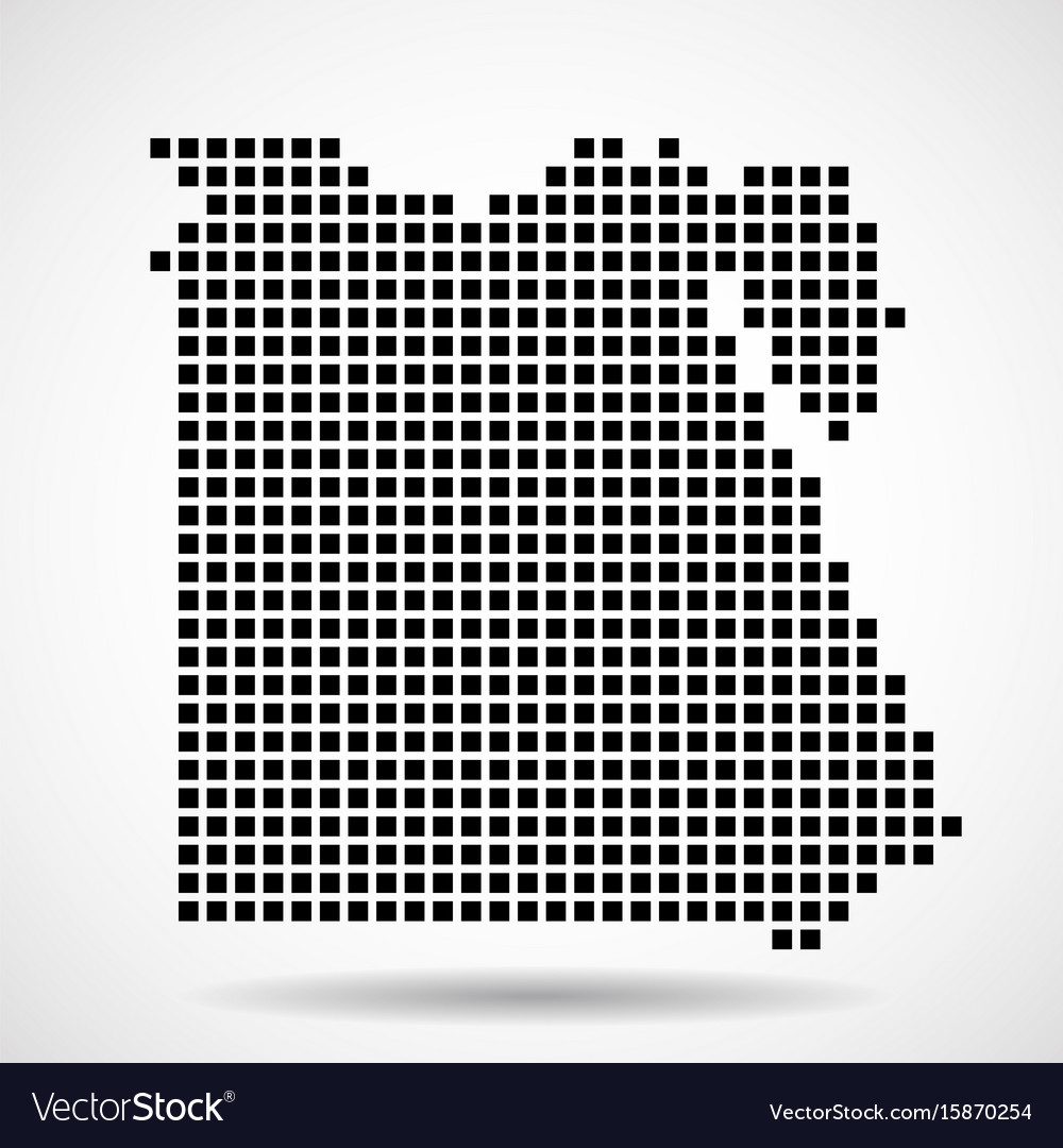 Pixel Map Of Egypt Royalty Free Vector Image VectorStock - Map of egypt vector free