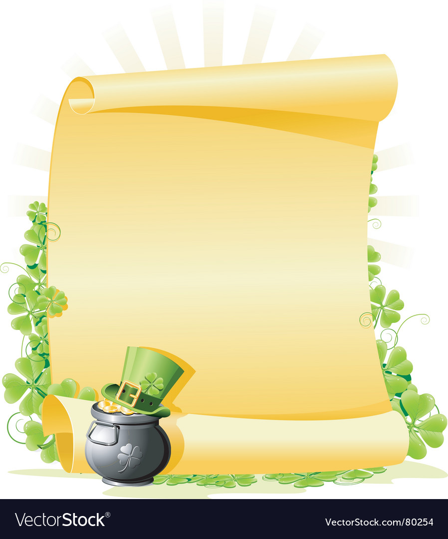 st patrick u0027s day blank letter royalty free vector image