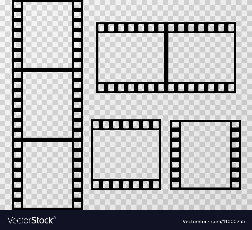 Film strip photo frame template isolated on vector image jeuxipadfo Image collections
