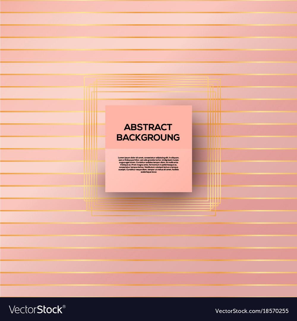 Rose gold background vector image