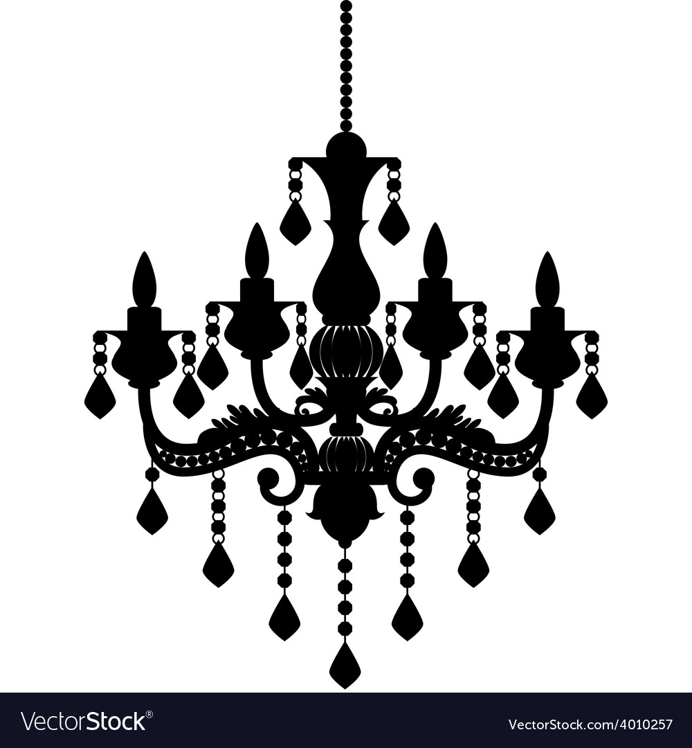Black modern chandelier icons vector black modern chandelier icons pixdezines black white chandelier diy background business card reheart Gallery