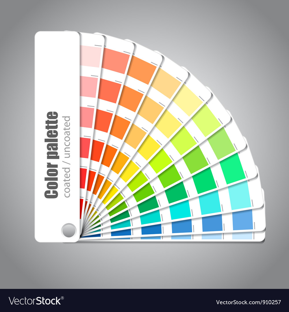 Color palette guide vector image