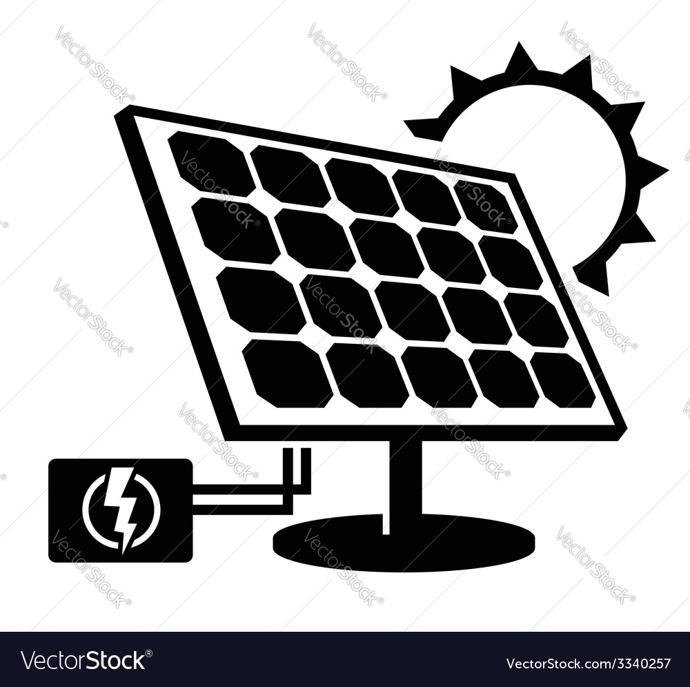 Solar Panel Icon Royalty Free Vector Image Vectorstock