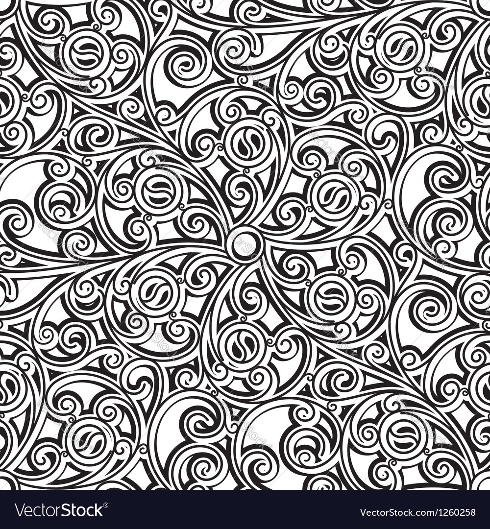Vintage lattice pattern vector image