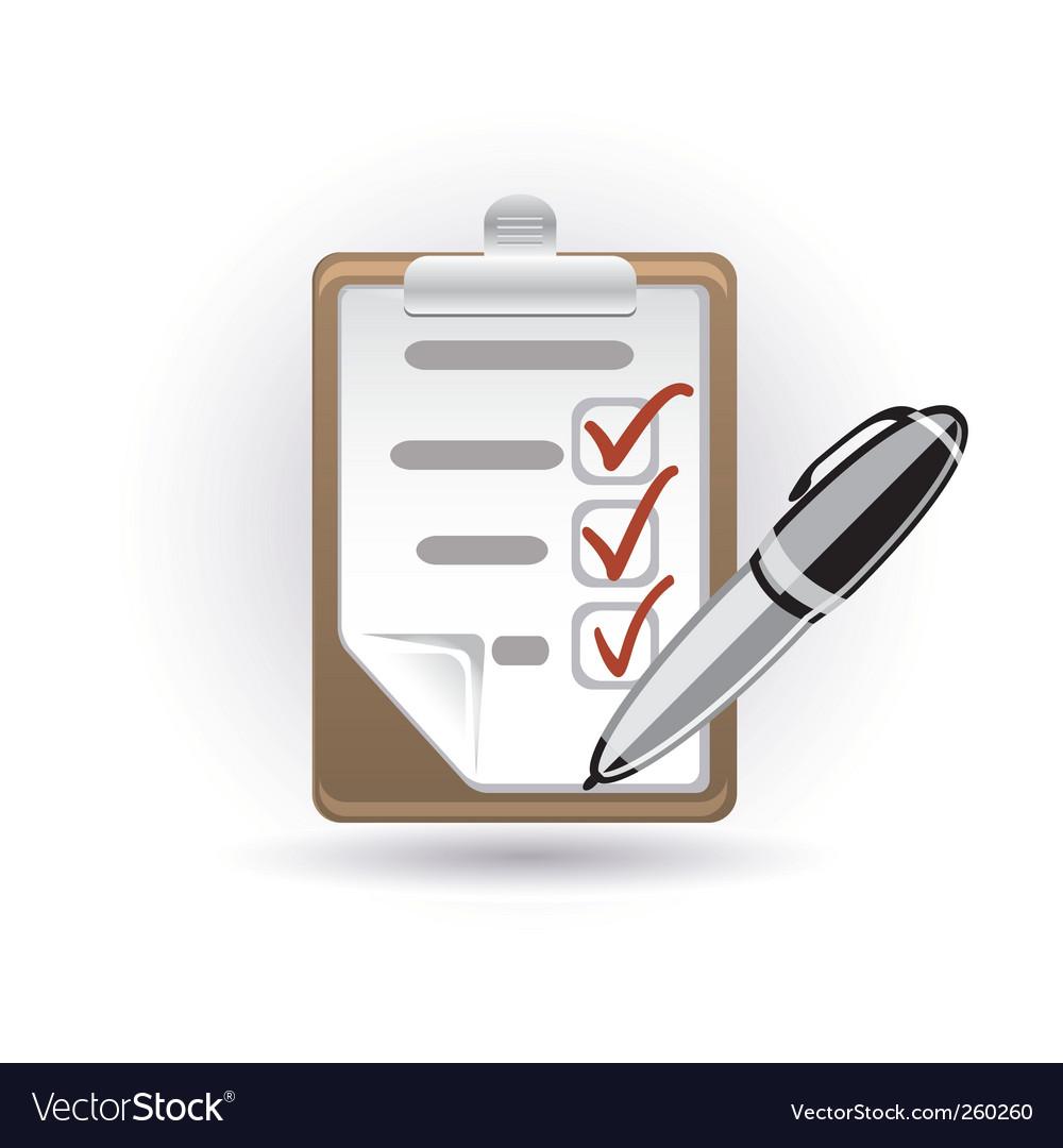 Pen and note vector image