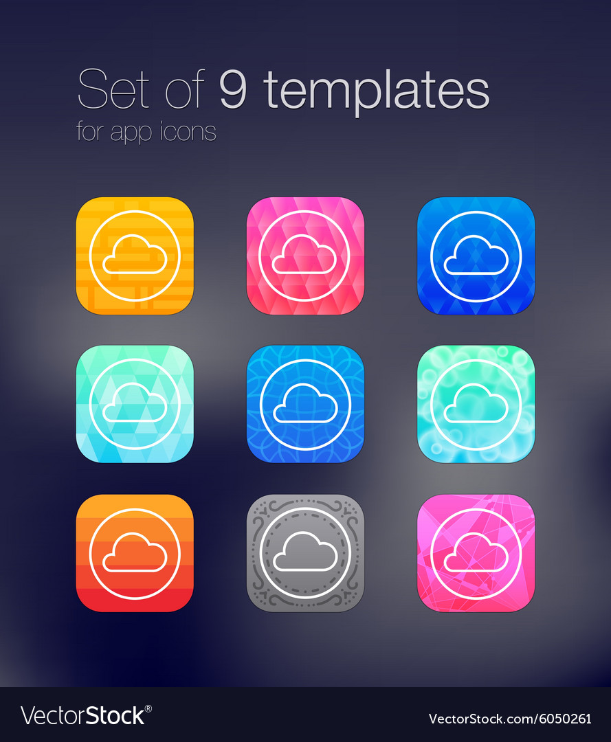 App icon backgrounds vector image