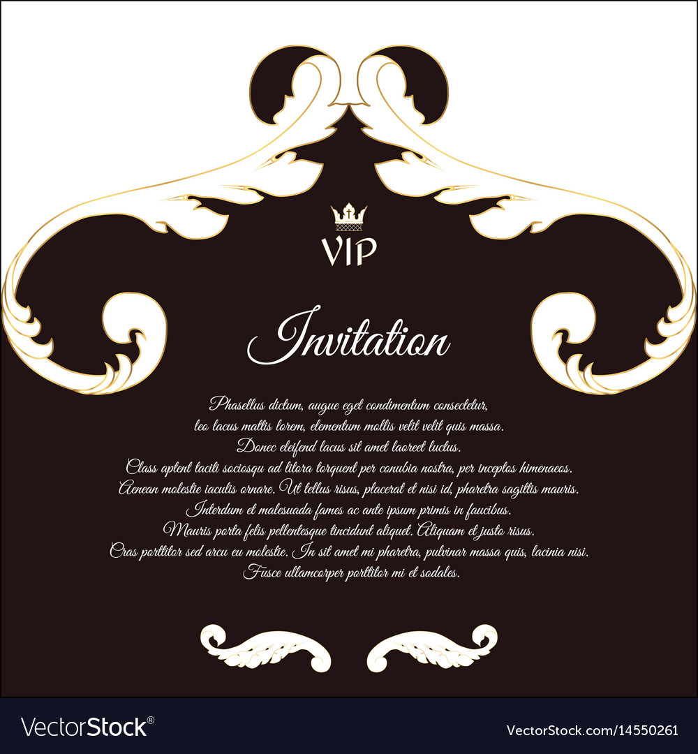 Elegant postcard for vip invitations and vector image elegant postcard for vip invitations and vector image stopboris Image collections