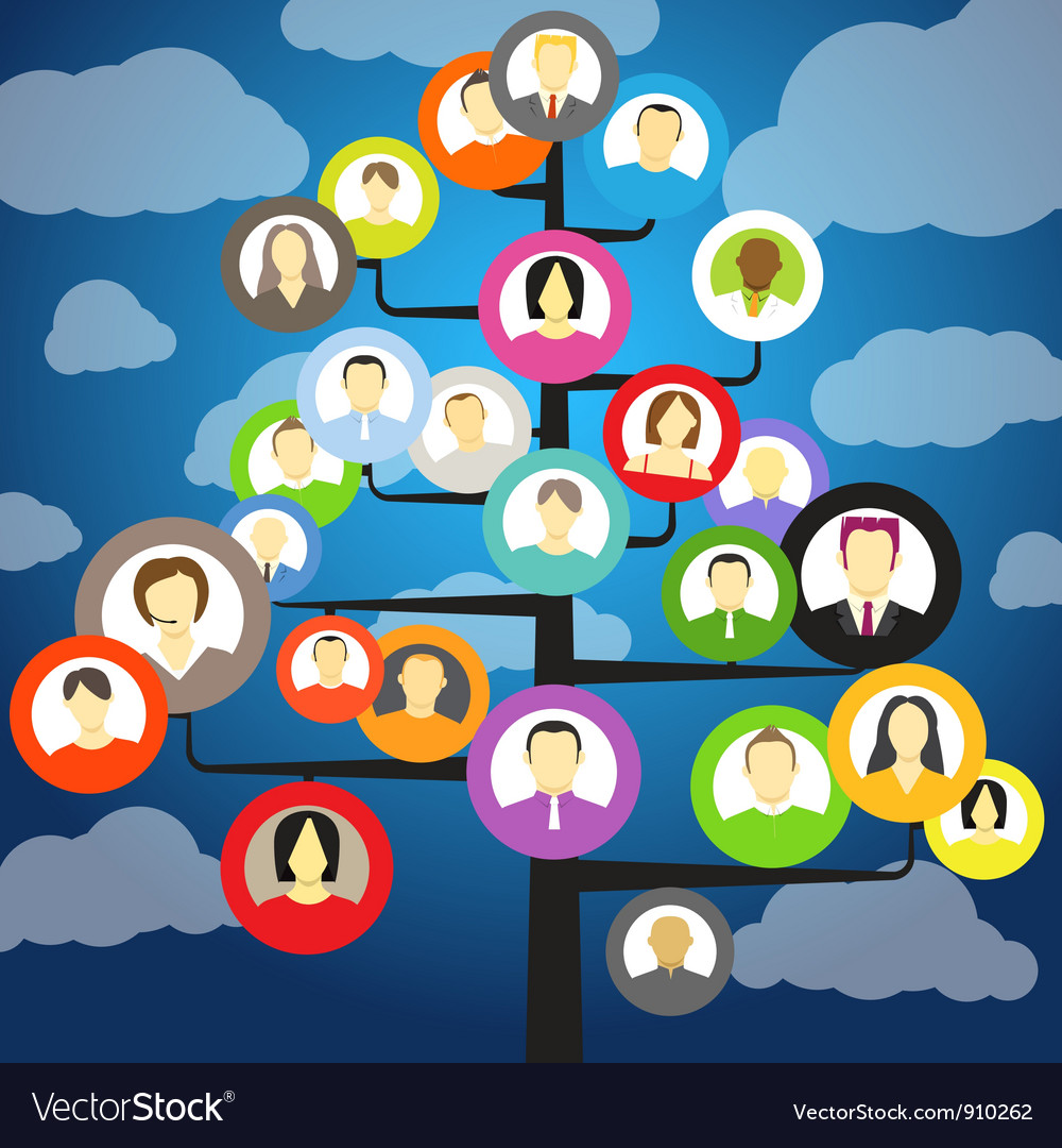 Abstract community tree royalty free vector image abstract community tree vector image sciox Gallery