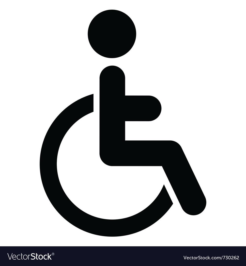 handicap icon royalty free vector image vectorstock rh vectorstock com symbole handicapé vectoriel symbole handicapé vectoriel