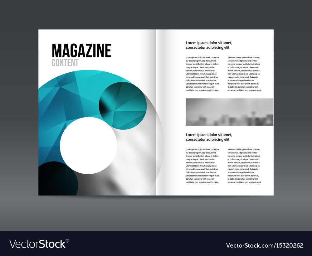 Modern Brochure Layout Design Template Royalty Free Vector - Brochure layout template