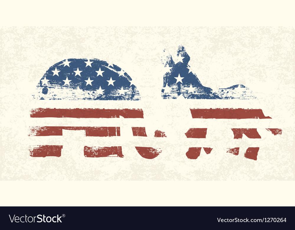 Democratic and republican political symbols vector image
