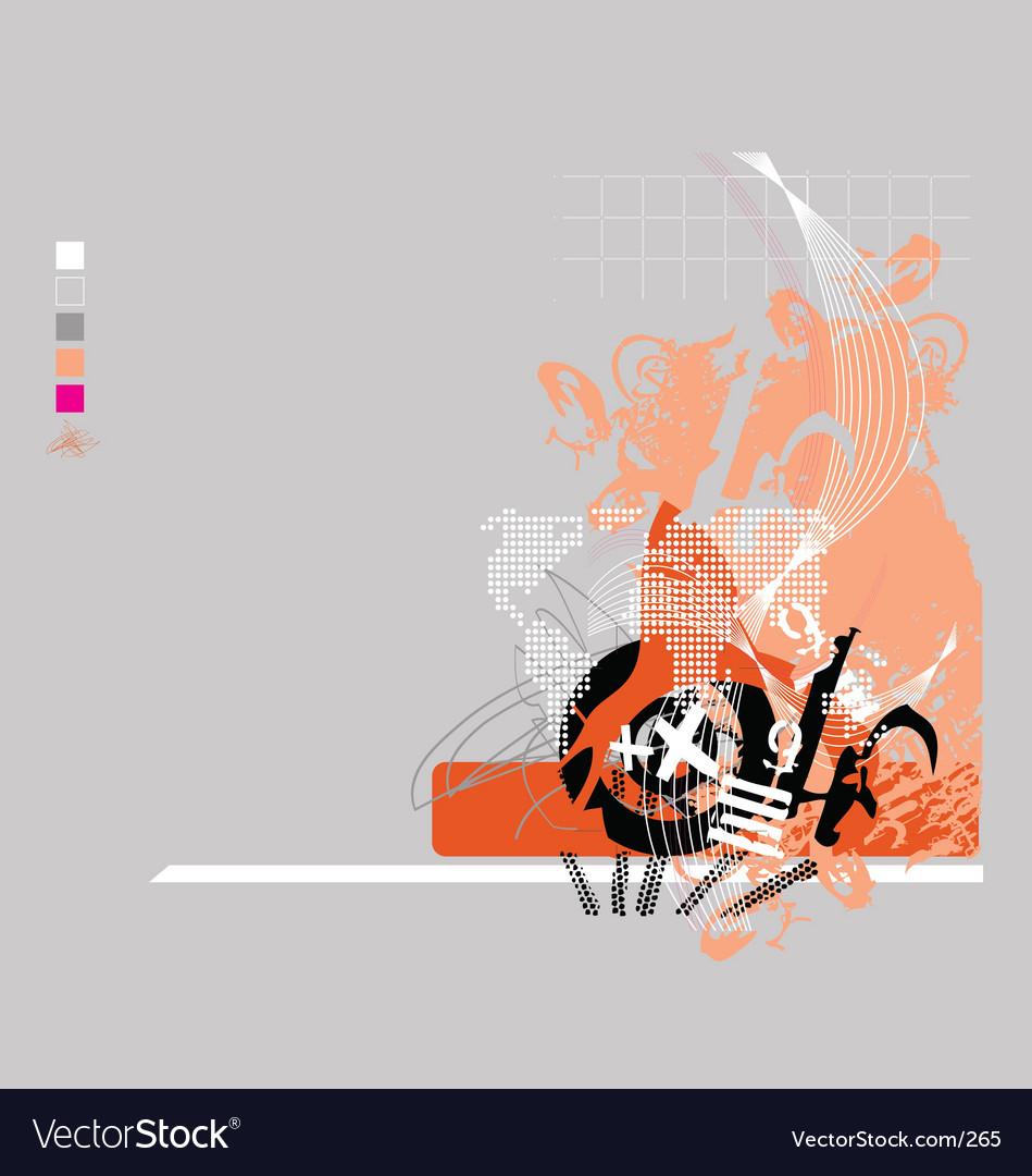 Grunge tech vector image
