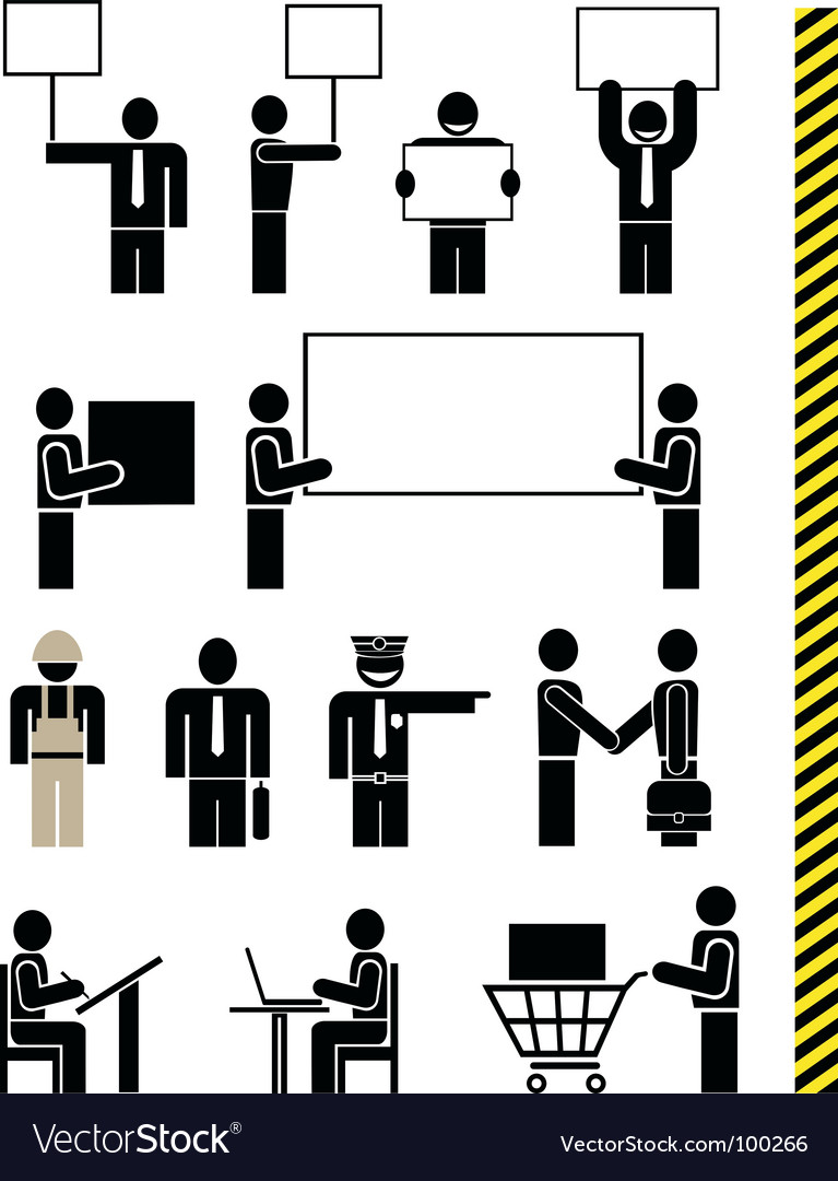 Job professions icons vector image