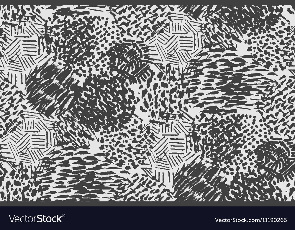 Seamless pencil scribble pattern in black and whit vector image