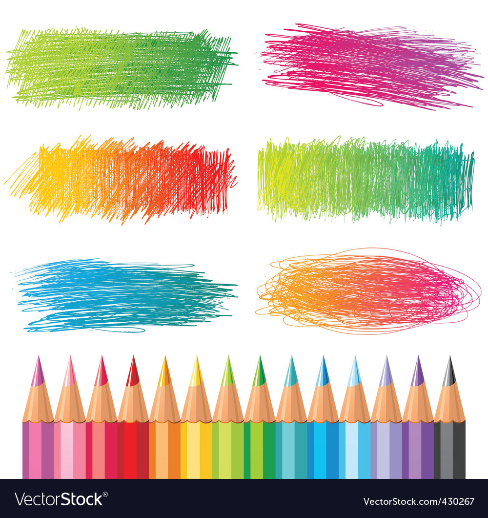 Coloured pencils vector image