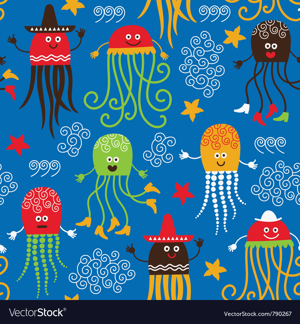 Cute octopuses vector image