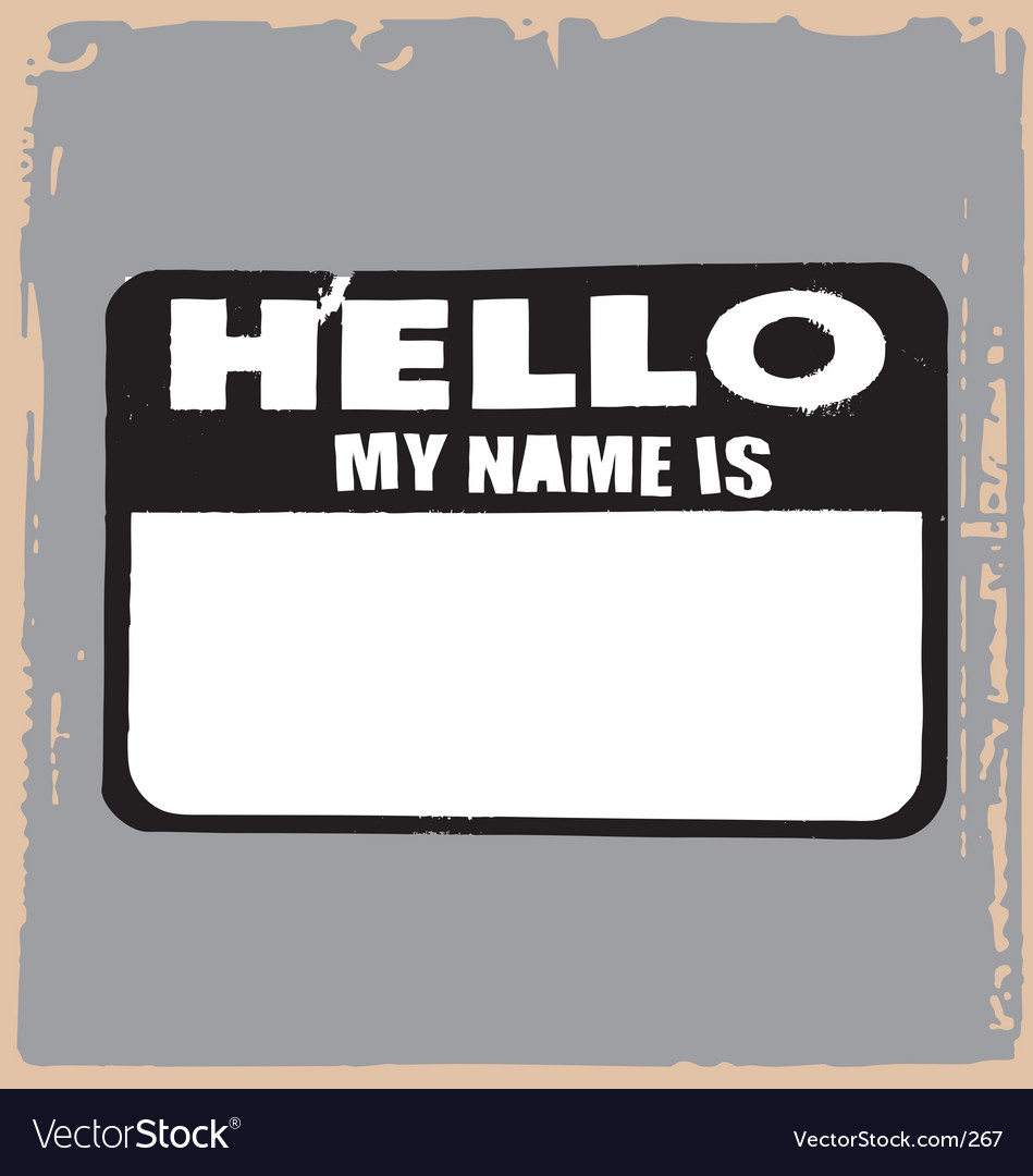 Hello name tag vector image
