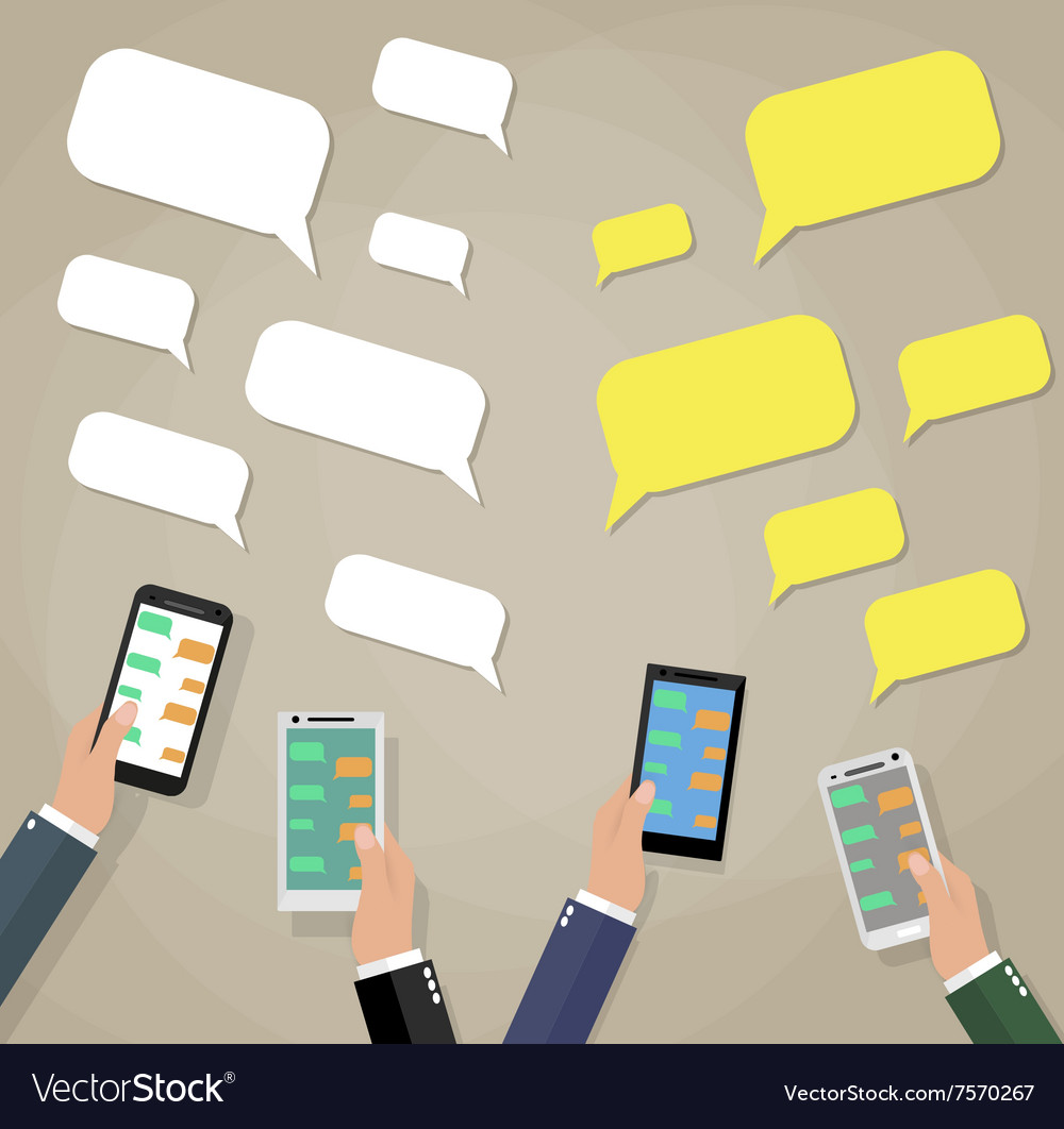 Mobile instant messenger chat vector image