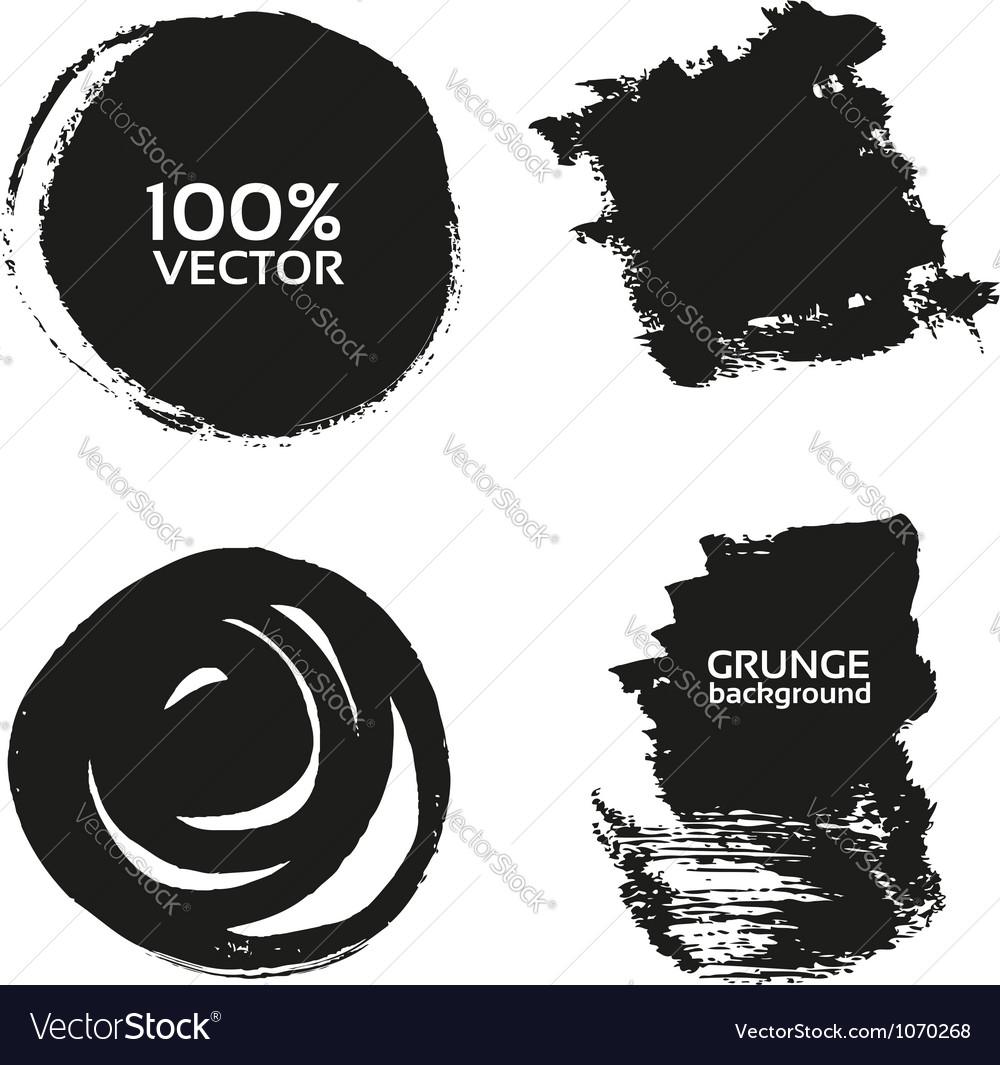 Grunge handmade black strokes- backgrounds vector image